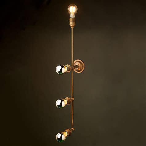 brass 4 bulb mirror light wall