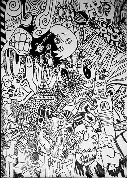 Fineliner Doodles Random Doodle Behance Wit Theis