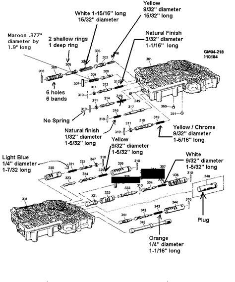 4l80e Valve Diagram by Need Picture Of Accumulator Valve Sequence In Valve