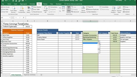 business expenses template overhead expenses tracking
