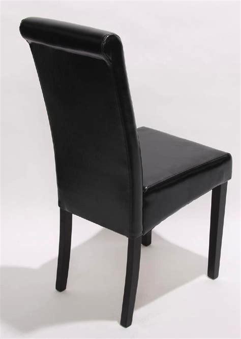 chaise cuir noir salle manger bricolage maison et d 233 coration