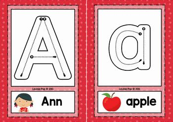 alphabet tracing cards  correct letter formation
