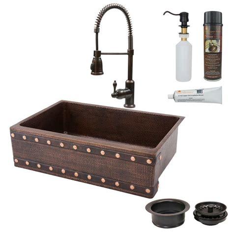 moenstone kitchen sinks premier copper products all in one undermount copper 33 in 4264