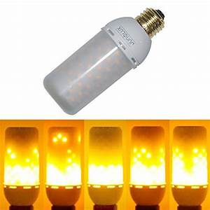 Junolux led burning light flicker flame bulb fire