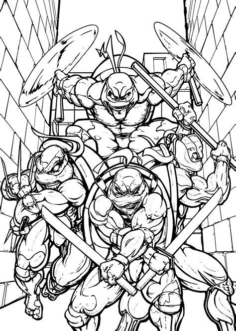 37 Printable Teenage Mutant Ninja Turtles Coloring Pages