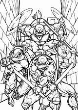 Coloring Ninja Turtles Teenage Printable Mutant Popular sketch template