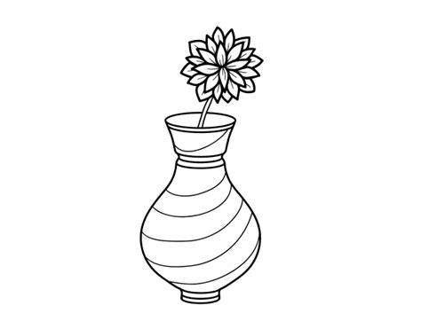 dibujo de crisantemo en un jarr 243 n para colorear dibujos net