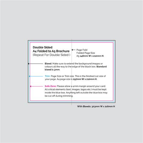 4 sided brochure template virtual print double sided a4 folded to a5 brochures