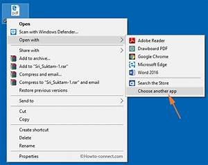 how to prevent edge from opening pdf files in windows 10 With pdf documents in windows 10