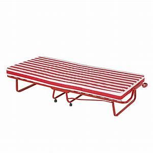 Bett 80x200 Metall : g stebett rot wei 80x200 matratze klappliege klappbett feldbett liege bett neu ebay ~ Indierocktalk.com Haus und Dekorationen
