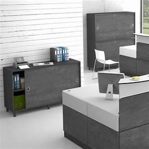 Meuble Pour Bureau : armoire de bureau pour rangement et archivage meuble design pour l 39 accueil entreprise ~ Teatrodelosmanantiales.com Idées de Décoration