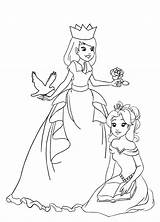 Princess Coloring Pages Princesses Simple Rose Much Clipartqueen sketch template