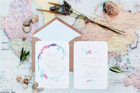 Paula + Bryan's Whimsical Floral Wedding Invitations Next Living Room Accessories In Missoula One Point Perspective Dining Combo Furniture Placement Contemporary Traditional Ideas Describe A Small Vintage Table Moulding Design For