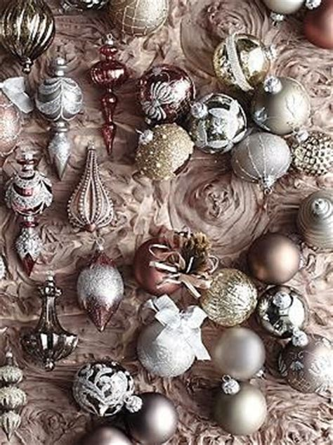 fifty shades xmas tree ornaments featuring stunning shades of mauve taupe and icy blue the 60 pc vintage ornament