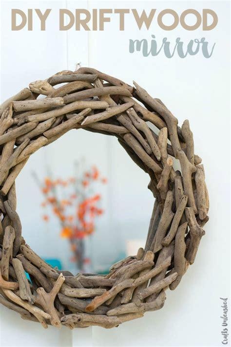 minute diy driftwood wall mirror