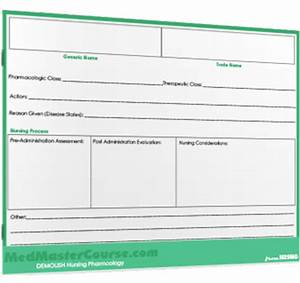 drug card template nrsng With med cards template