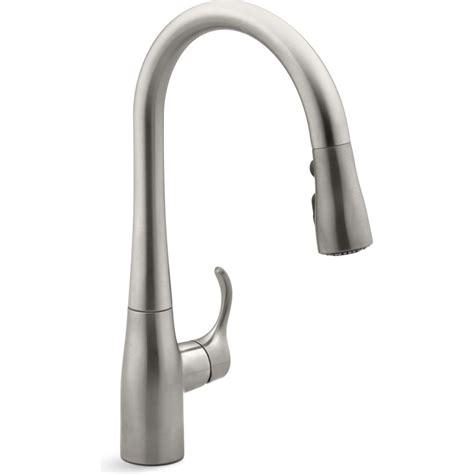 black kitchen sink faucets kohler k 597 vs simplice vibrant stainless steel pullout