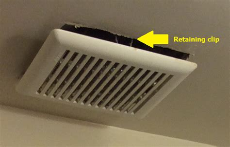 Ceiling Vent Covers by Bathroom Is It Normal For An Exhaust Fan Cover To Hang