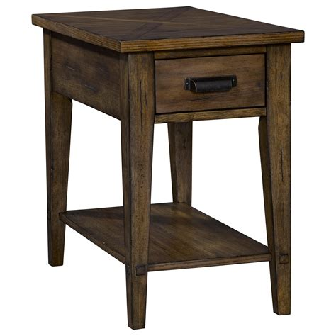 end tables with built in outlets broyhill furniture creedmoor 1 drawer chairside table with