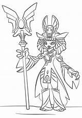 Skylanders Coloring Pages Queen Golden Trap Team Printable Print Skylander Doom Sheets Raiders Drawing Manga Tegninger Gold Characters Turns sketch template