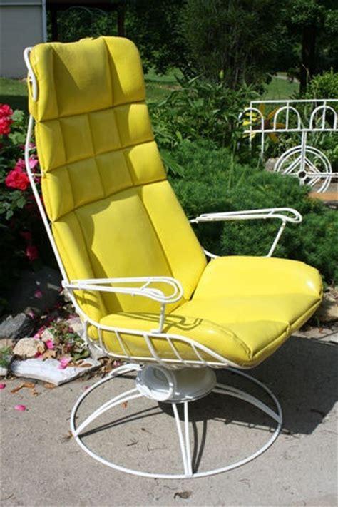 vintage homecrest wire patio furniture vintage homecrest 1950 s rocking wire chair patio retro