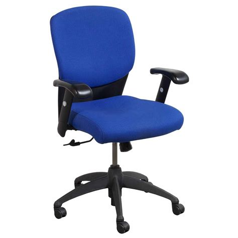 sitonit leader used mid back task chair blue national