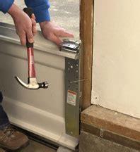 putting up a garage door how to install a garage door