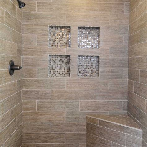subway tile shower bench shower niche insert wall home ideas collection simple