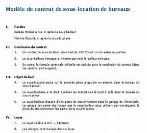 Contrat De Sous Location De Bureaux Modle Tlcharger