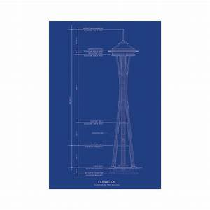 Space Needle - Old Blueprints