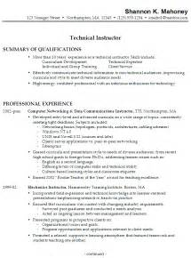 resume objective statements entry level sales salary resume sle for a technical instructor susan ireland resumes