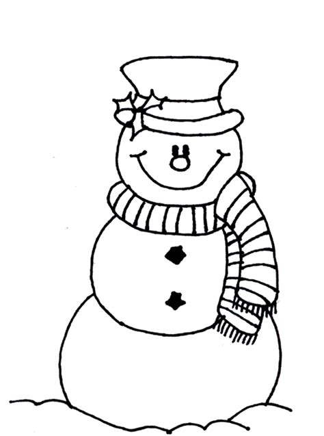 snowman coloring page coloring page book  kids