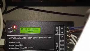 Tc420 Programmable Led Time Controller Youtube
