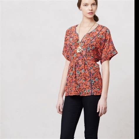 anthropologie blouses anthropologie 100 silk anthropologie maeve floral