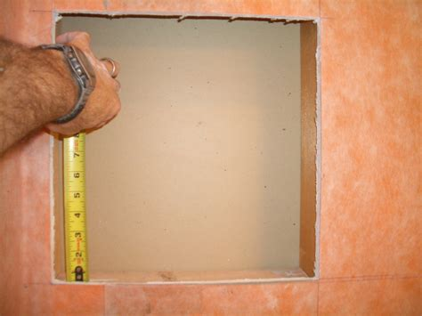 shower recessed shelves how to build a niche for your shower part 1