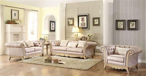 Chambord Champagne Gold Living Room Set From Homelegance