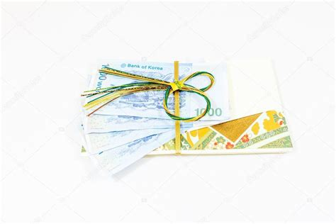 korea money wit gift envelope stock photo  wittybear