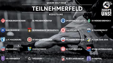 Get an ultimate soccer scores and soccer information resource now! Teilnehmerfeld der 3. Liga für Saison 2017/2018 komplett :: DFB - Deutscher Fußball-Bund e.V.