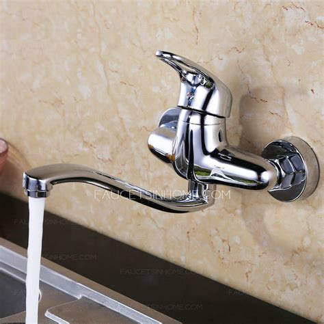 Mounted Faucet Kitchen by Top Wall Mounted Two Holes Kitchen Sink Faucet