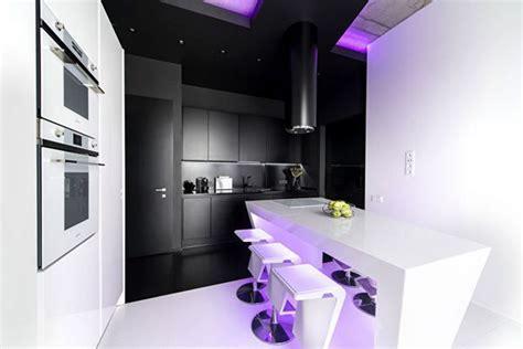 top high tech kitchen design trends  striking interior