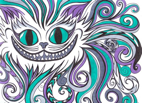 cheshire cat  hidden rainbows  deviantart