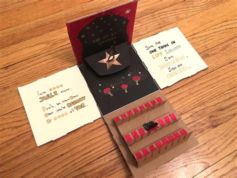 basteln zum geburtstag explosionsbox basteln handmade