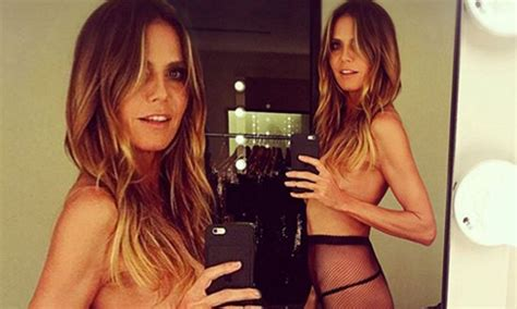 Heidi Klum Sizzles Topless Selfie She Bares All