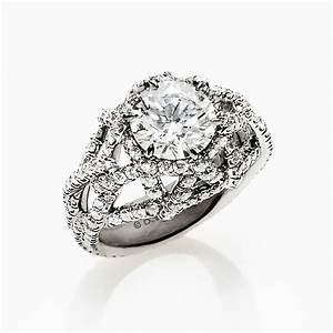 david yurman round cut diamond engagement ring With david yurman wedding ring