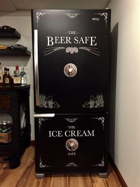 beer safe ice cream safe refrigerator wrap man cave