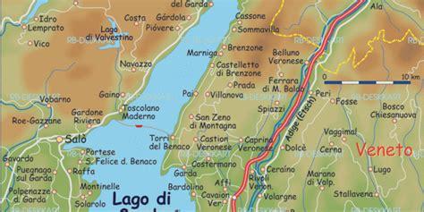 karte von gardasee region  italien welt atlasde