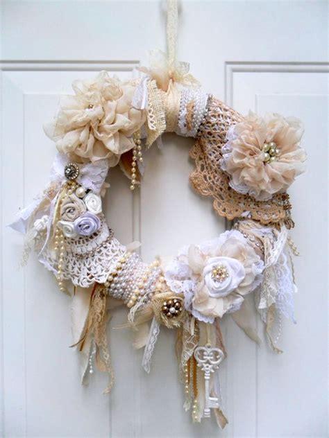 shabby chic wreaths shabby wreath cottage wreath christmas wreath floral