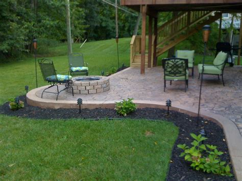 concrete patio designs with pit 39 for diy patio