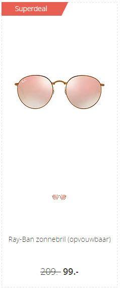 ray ban zonnebril opvouwbaar aanbieding bij wehkamp