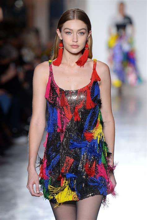 GIGI HADID at Versace Runway Show at Milan Fashion Week 02 ...